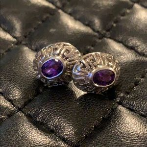 Sundance Sterling Silver Amethyst Stud Earrings
